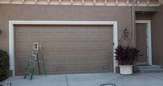 Painting An Over Sized Garage Door Garage Door Hinges, Garage Door Paint, Garage Door Makeover, Big Doors, Paint Strokes, Red Arrow, Diy Home Improvement, Real Wood, Painting Techniques