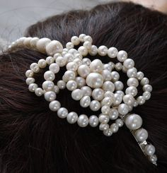 pearl celtic knot tiara  freshwater ivory white by PearlsByTabs, $65.00