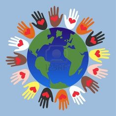 Helping Hands Royalty Free Cliparts, Vectors, And Stock Illustration. Earth Day Crafts, World Crafts, Harmony Day, Art For Kids, Crafts For Kids, Class Art Projects, Kindergarten Graduation, Remembrance Day, Child Day