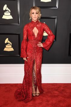 Carrie Underwood in Elie Madi at the Grammys - The Most Glamorous Red Carpet Looks of 2017 - Photos
