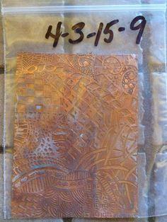 """Etch Copper 4"""" x 3"""" - Zentangle Pattern"""