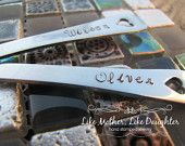 Oh Baby - One Hand Stamped Baby Spoon - Great Baby Shower Gift - Personalized Baby Spoon. $7.50, via Etsy.