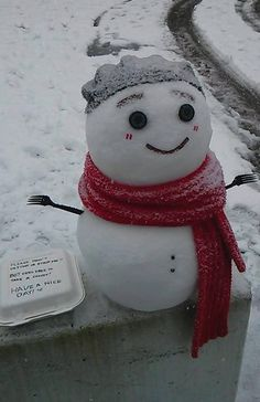 Found this on campus today, Have a nice day! sweepstakes winner winner home sweepstakes sweepstakes I Love Snow, I Love Winter, Winter Wonder, Winter Fun, Funny Snowman, Cute Snowman, Christmas Time Is Here, Christmas Fun, Diy Arts And Crafts