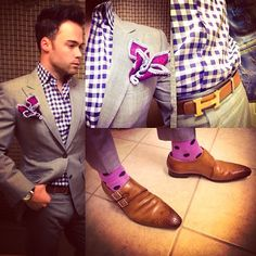 A Sebastian Cruz Couture look with beautiful monk straps.