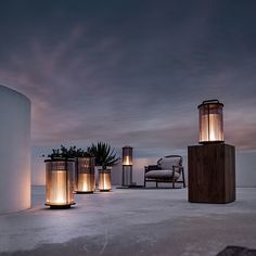 Add a warm glow to your outdoor living space with the nautically-inspired Gloster Ambient Small Line Lantern. This lantern-style light has a Modern Luxury, Floor Lanterns, Luxury Outdoor Furniture, Lanterns, Outdoor Furniture Ideas Backyards, Ambient, Contemporary Furniture Design, Lantern Style Lighting, Outdoor Flooring