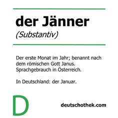 Das #WortderWoche geht auch 2015 weiter. Wir hoffen, ihr seid gut ins neue Jahr gestartet!  The #wordoftheweek continues in 2015. We hope that you had a good start to the new year!  #Deutschothek #Deutschkurse #deutscheSprache #Deutschlernen #Sprachkurs #Sprachschule #languageschool #languagecourse #germanlanguage #learnGerman #Jänner #Januar #January #2015 Learning German, New Words, Language School, German Language, Learn German, January