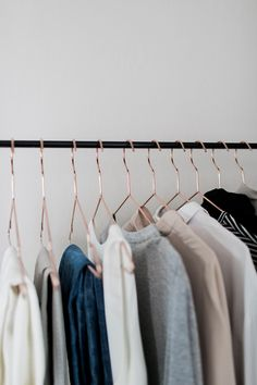 The Hanger Trick Wardrobe Rack, Capsule Wardrobe, Modern Living, Minimal Wardrobe, Into The Fire, Hanger, Minimal Fashion, New Room, Get Dressed