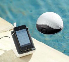 Audio Floating Pool Speaker  http://www.lovedesigncreate.com/audio-unlimited-900mhz-wireless-floating-pool-speaker/
