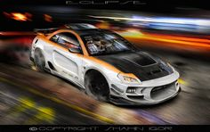 Mitsubishi Eclipse by tuninger on DeviantArt 2010 Mustang, Ford Mustang, Hot Rods, Mitsubishi Eclipse, Car Memes, Car Photos, Toyota Celica, Bmw, Dream Cars