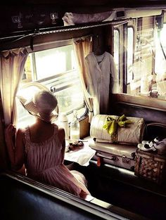 """Looking through the windows of the Orient Express. """"We travel, some of us forever, to seek other states, other lives, other souls."""" (via Orient Express) Simplon Orient Express, Slow Travel, Travel List, Time Travel, By Train, Train Car, Girl Train, Train Rides, Train Trip"""