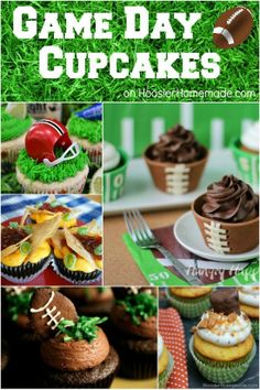 Game Day Cupcakes | Recipes on HoosierHomemade.com