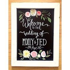 Welcome Wedding Sign (custom flowers)