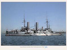 "Imperial Russian battleship ""Slava"" in Kronstadt, early of 1910s."