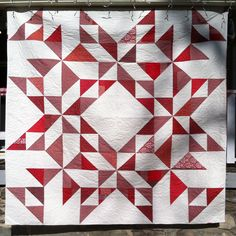 "Modern King Size Quilt: ""Star"" by The Mountain Thread Company by MountainThreadCo on Etsy https://www.etsy.com/listing/259897259/modern-king-size-quilt-star-by-the"