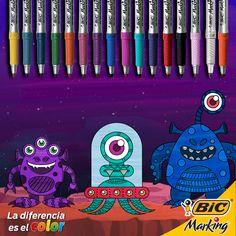 Si vivieran extraterrestres en la Luna, ¿de qué color te los imaginas?  #LaDiferenciaEsElColor #color #BICMarking #BIC #BICMarkit  #marker #markers #markerart #marcador #marcadores #fineliner #puntofino #ultrafinepoint #finepoint