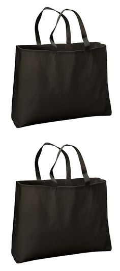 ECOnscious 100% Organic Cotton Large Twill Tote (Black)