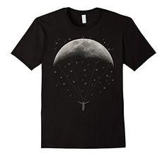 Men's Funny Parachute moon,Paragliding T Shirt,Sky Diver…