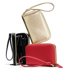 "Compact 4"" H x 6"" W x 1 1/4"" D wristlet has 3 credit card slots, a slip pocket, a cell phone pocket and a detachable wrist strap. Zip closure. Polyester.  ~ order at www.youravon.com/atodd"