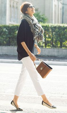61 Ideas for style black and white casual Office Fashion, Work Fashion, Fashion Pants, Daily Fashion, Fashion Outfits, Womens Fashion, Fashion Trends, Look Street Style, Look Chic