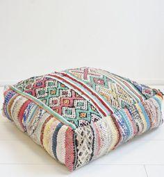 Garden Seat Cushions, Tea Lounge, Inside A House, Meditation Cushion, Leather Pouf, Moroccan Decor, Textiles, Art Deco Design, Bohemian Decor