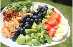 You can add blueberries to almost any dish, including a Cobb salad. #blueberries #cobbsaladrecipe #blueberryrecipe