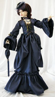 ball jointed doll outfit Victoria Blue BJD SD $140