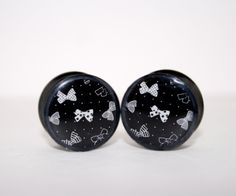 Black and White Bows Plugs by Plug-