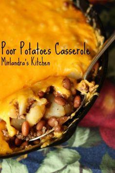 Poor Potato Hamburger Casserole - Mirlandra's Kitchen
