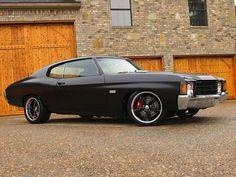 Chev Chevy Chevrolet Chevelle SS black on black