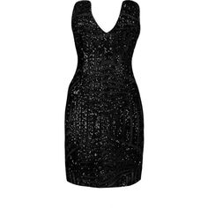 Yoins Black Backless Sequin V-neck Sexy Bodycon Dress ($25) ❤ liked on Polyvore featuring dresses, black, short sequin dress, sequin cocktail dresses, v neck cocktail dress, short dresses and sequin mini dress