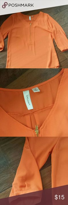 Top Orange blouse in an excellent condition Tops Blouses