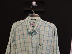 Faconnable Classic Designer Big Man Green Plaid  Shirt SZ XL Mint Quick Ship #Faconnable #ButtonFront