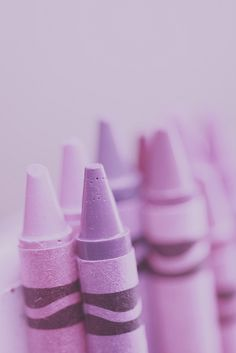 Lavender and Pink Crayons by Pink Poppy Photography, via Flickr  #TattyDevineLilac