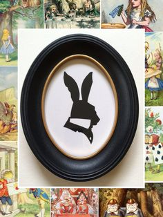 The March Hare Silhouette by PaperPortraits