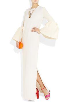 Roksanda Ilincic Dubois wool and cotton-blend crepe gown Prom Dresses Long With Sleeves, Nice Dresses, Dresses For Work, Elegant Maxi Dress, Roksanda, Evening Dresses, Fashion Dresses, Style Inspiration, My Style