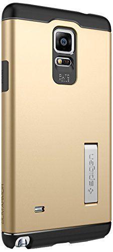 Fast & Free Shipping Samsung Galaxy Note 4 Case Spigen Slim Armor Case Color: Gold Free Shipping #Spigen
