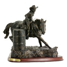 Race For Home Statue From Montana Silversmiths Cowgirl Theme Bedrooms, Bedroom Themes, Sculpture Art, Garden Sculpture, Western Art, Montana, Room Decor, Racing, Horses