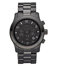 yes please!!!  Michael Kors Black Chronograph Sport Watch #Dillards