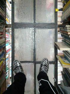 Glass windows as floors
