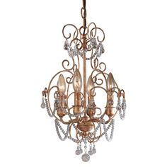 View the Minka Lavery ML 3129 4 Light 1 Tier Candle Style Crystal Chandelier from the Mini Chandeliers Collection at LightingDirect.com.