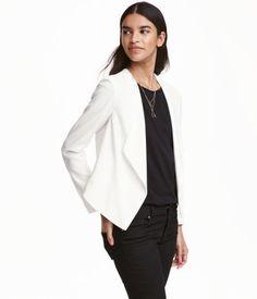 Poimutettu jakku | Valkoinen | Naiset | H&M FI