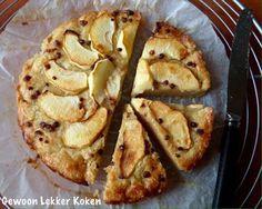 Gewoon Lekker Koken: Boterkoek met appel uit de airfryer