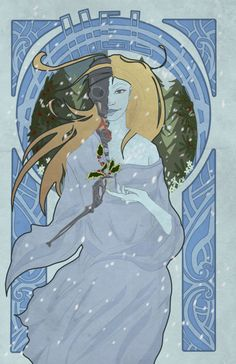 """""""Hel, the Norse goddess of winter and death.Yew, holly and elm are plants that are symbolic of Hel and her domain Helheim."""""""