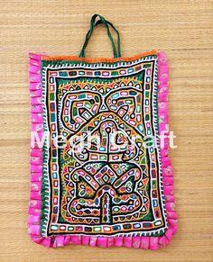 Gujarati Mirror work Theli Bag-Indian Traditional Theli Bag-Vintage Mirror bag