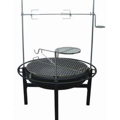 HEAVY DUTY CHARCOAL GRILL BACKYARD FIRE PIT ROTISSERIE PRO OUTDOOR COOKING CAMP #SmokeCanyon