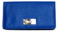 Nine West Slim Wallet-Lightly Grained (Cobalt) Nine West. $19.00