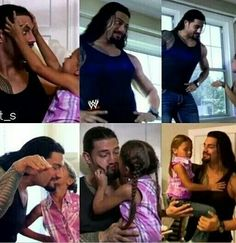Roman reigns with his daughter joelle