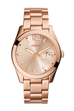 SPONSORED: Ready for your wishlist:#FossilPerfect Boyfriend Three-Hand Date #Watch in lovely rose gold-tone.