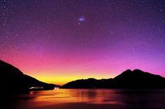 Aurora Southern Lights/Taken by Minoru Yoneto on April 30, 2014 @ Queenstown, New Zealand