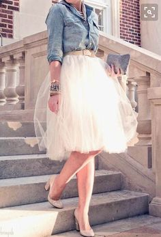 love, skirt, shirt, and heels!